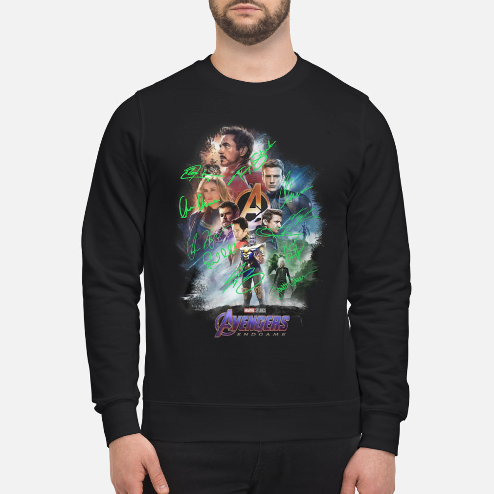 Avenger endgame poster gnature shirt sweater