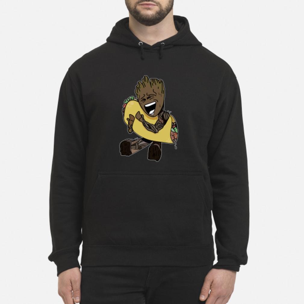 Baby Groot hugging Tacos shirt hoodie