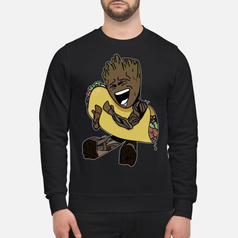 Baby Groot hugging Tacos shirt sweater