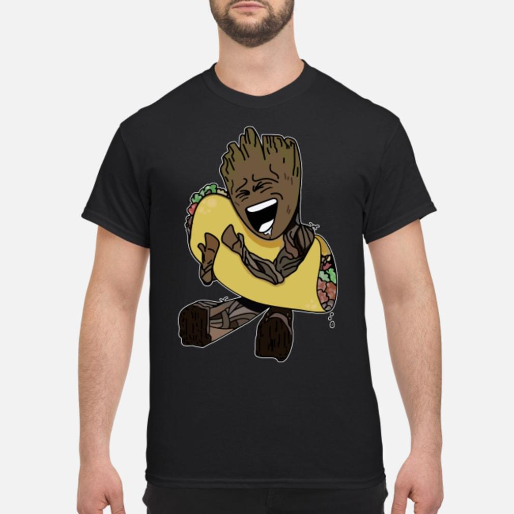 Baby Groot hugging Tacos shirt