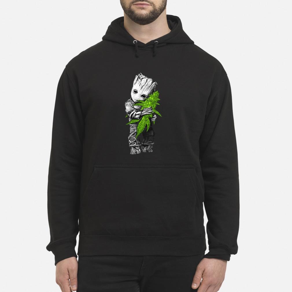 Baby Groot hugging weed shirt hoodie