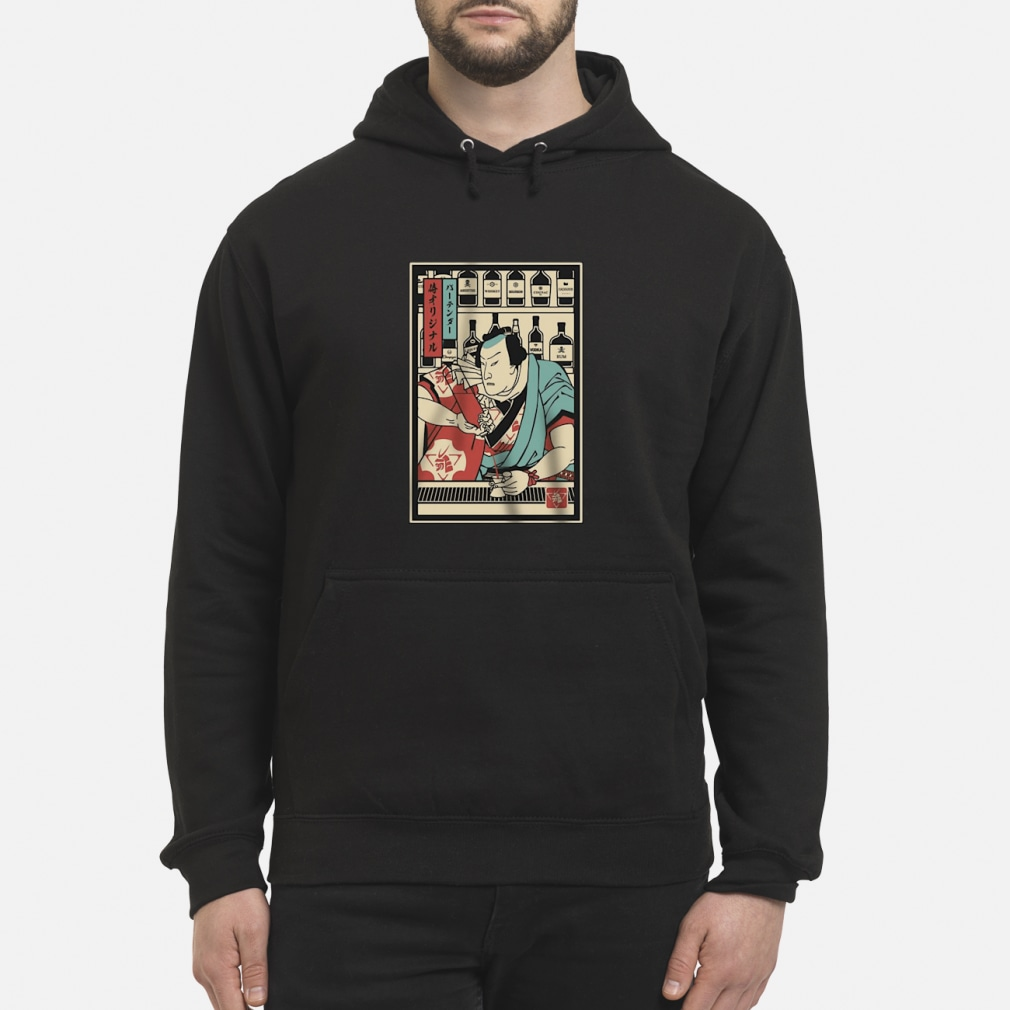 Bartender Samurai shirt hoodie