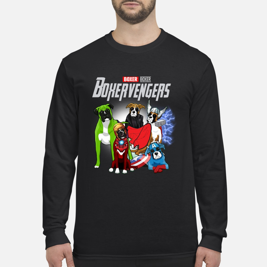 Boxer Boxer Boxervengers Shirt Long sleeved