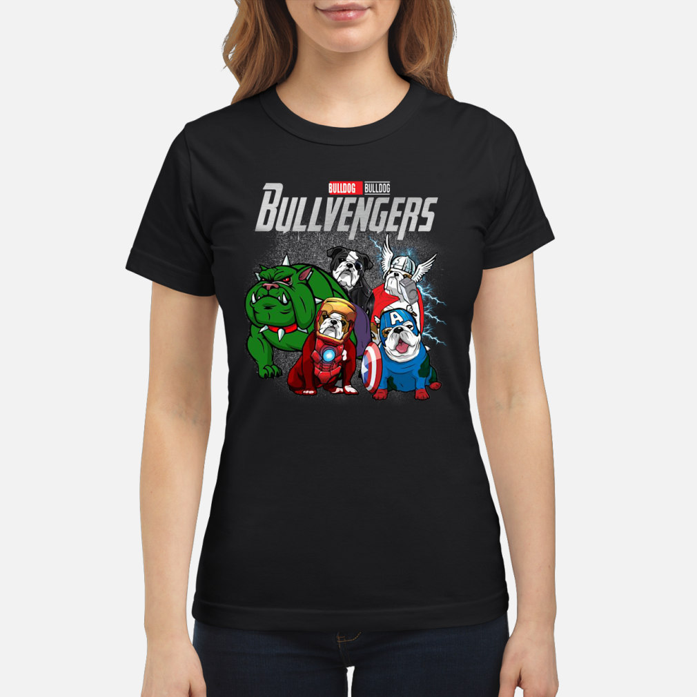 Bullvengers Bulldog shirt ladies tee