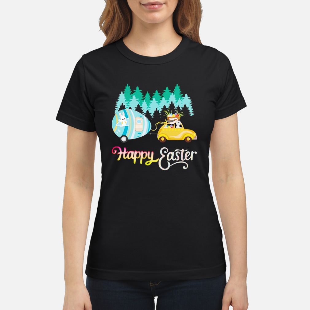 Camping Lover Happy Easter shirt ladies tee