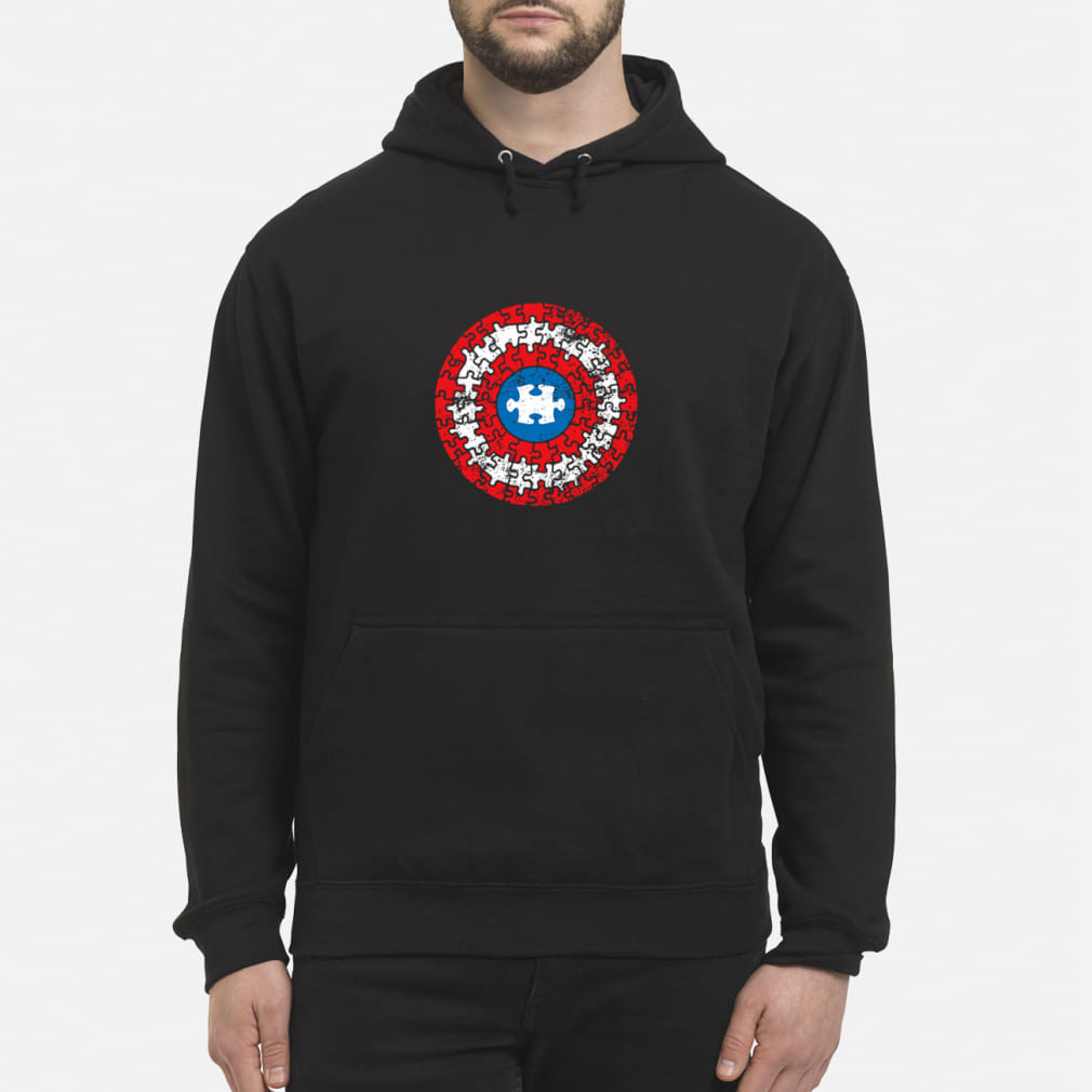 Captain America's Shield Autism ladies shirt hoodie