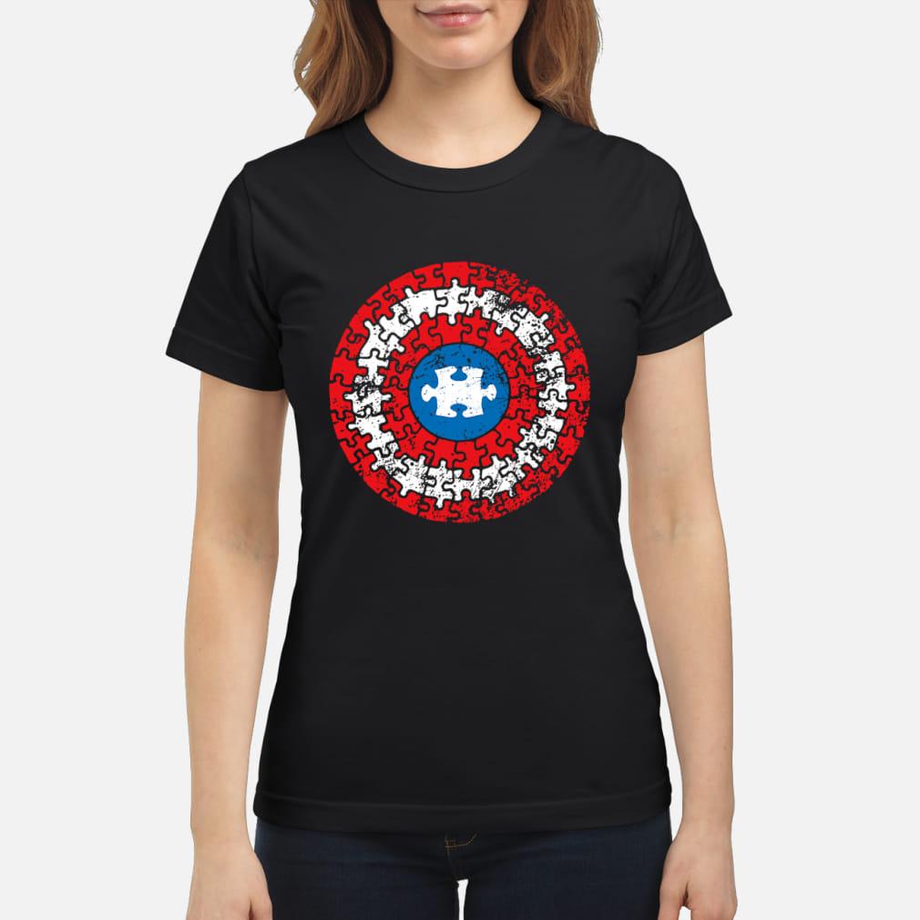 Captain America's Shield Autism ladies shirt ladies tee