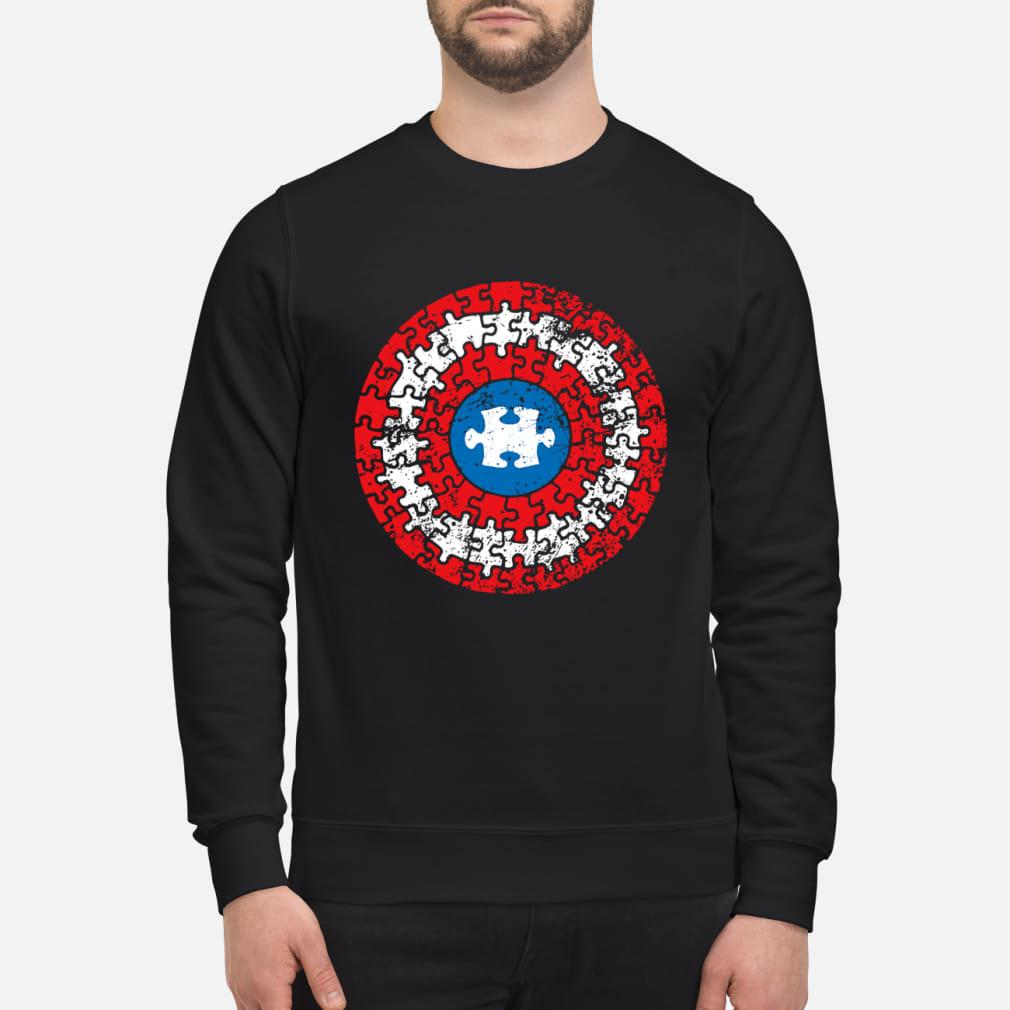 Captain America's Shield Autism ladies shirt sweater