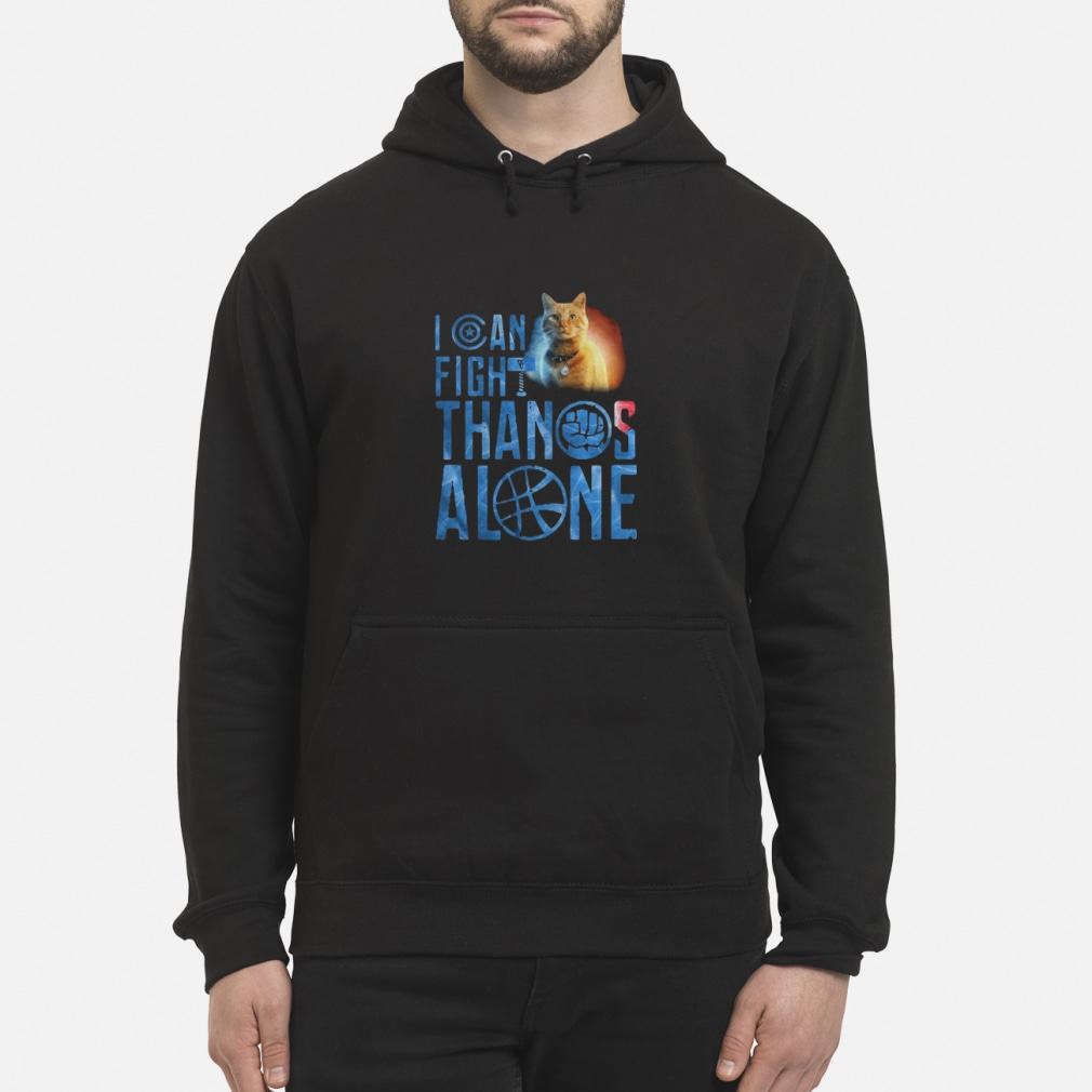 Cat Goose I can fight Thanos alone ladies shirt hoodie
