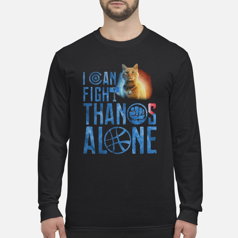 Cat Goose I can fight Thanos alone ladies shirt Long sleeved
