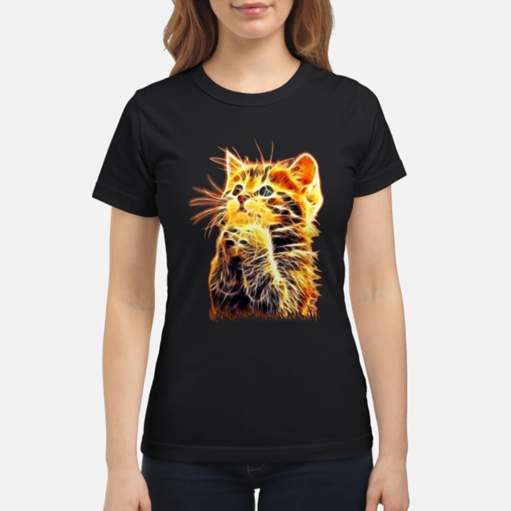 Cool Cat Pray ladies tee Shirt ladies tee