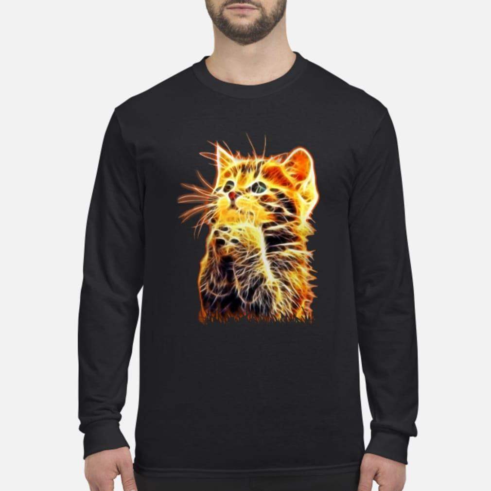 Cool Cat Pray ladies tee Shirt Long sleeved