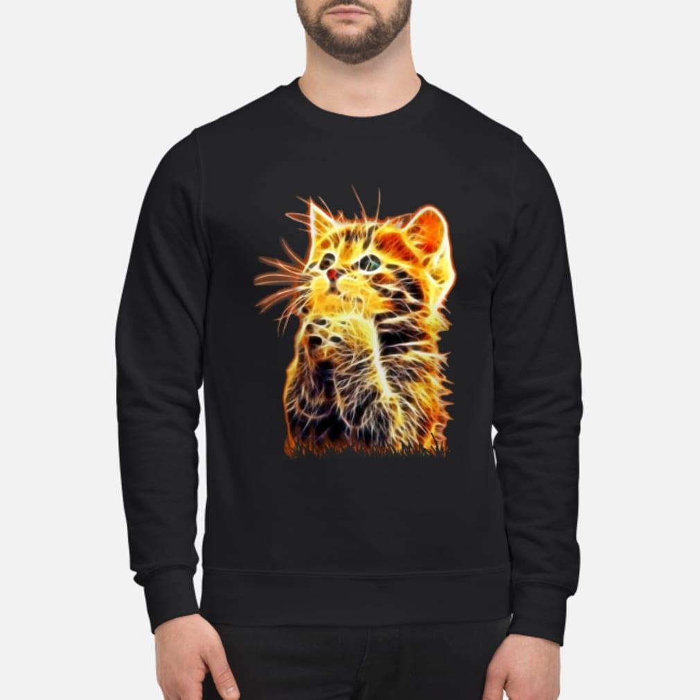 Cool Cat Pray ladies tee Shirt sweater