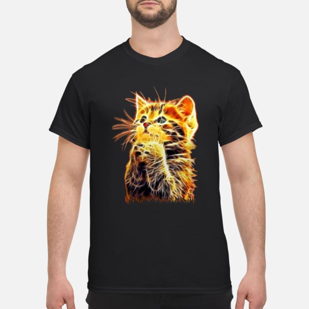 Cool Cat Pray ladies tee Shirt