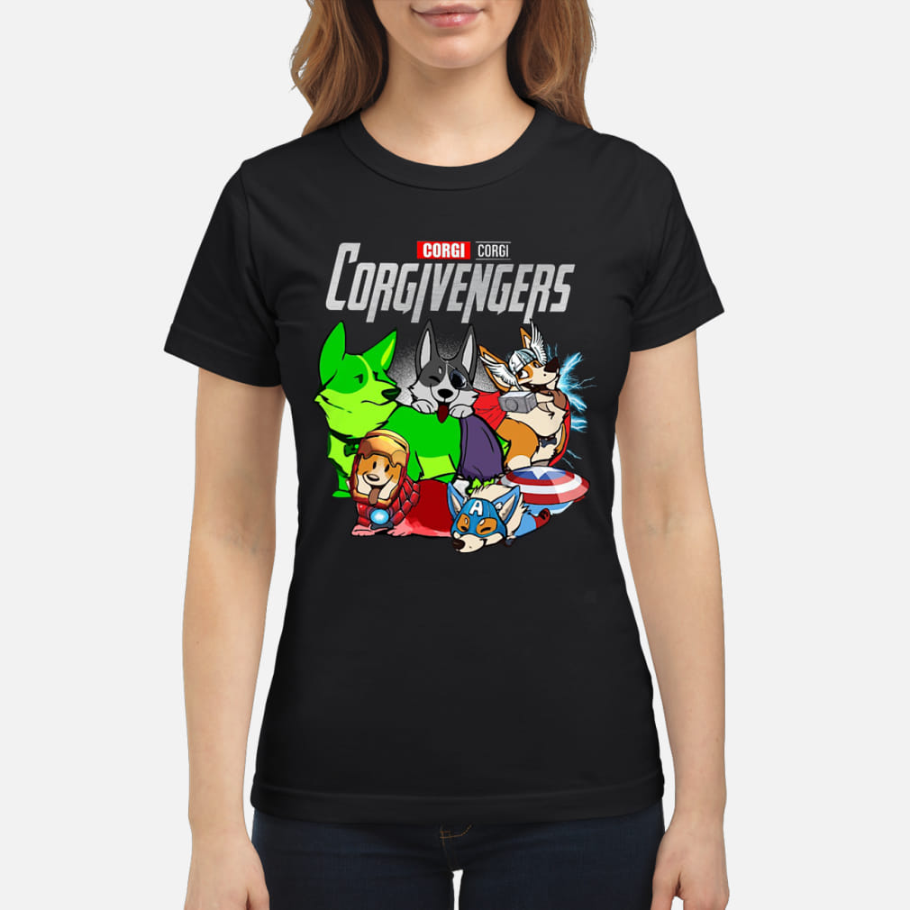 Corgi Corgivengers Shirt ladies tee