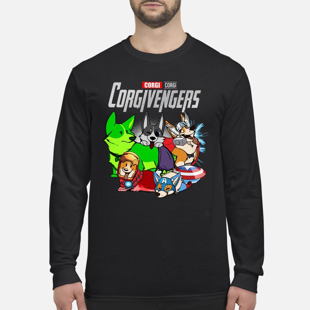 Corgi Corgivengers Shirt Long sleeved