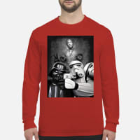 Darth Vader and Stormtroopers take a selfie shirt Long sleeved