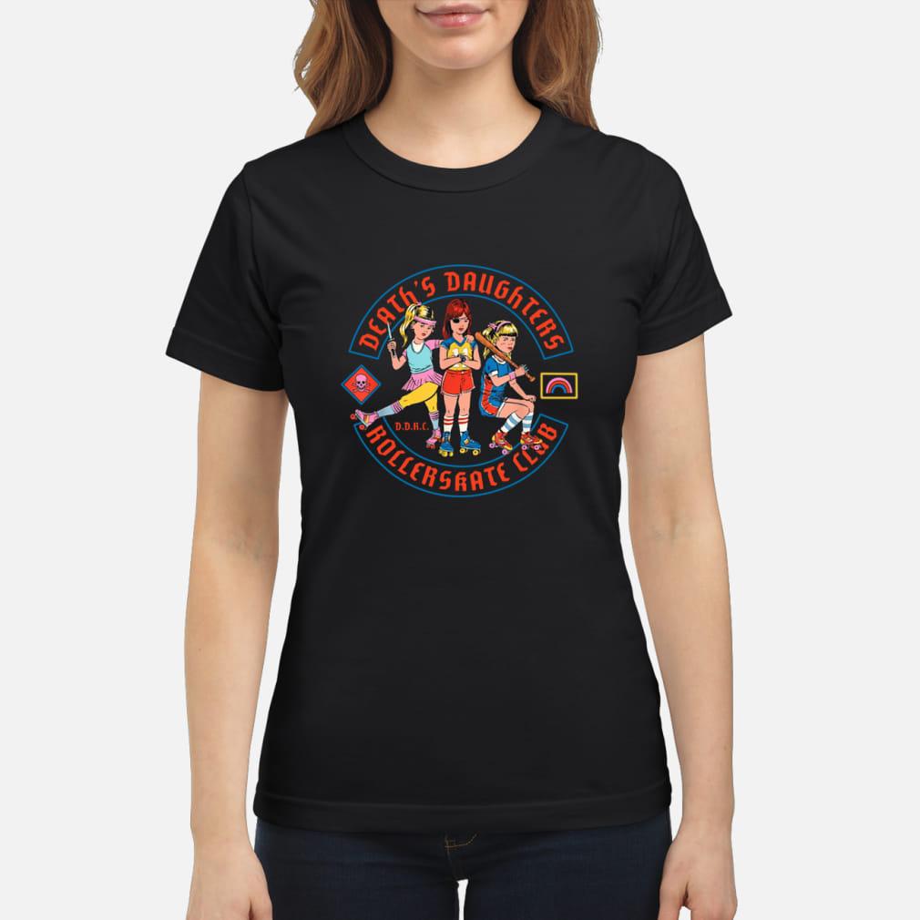 Death's daughters roller skate club shirt ladies tee
