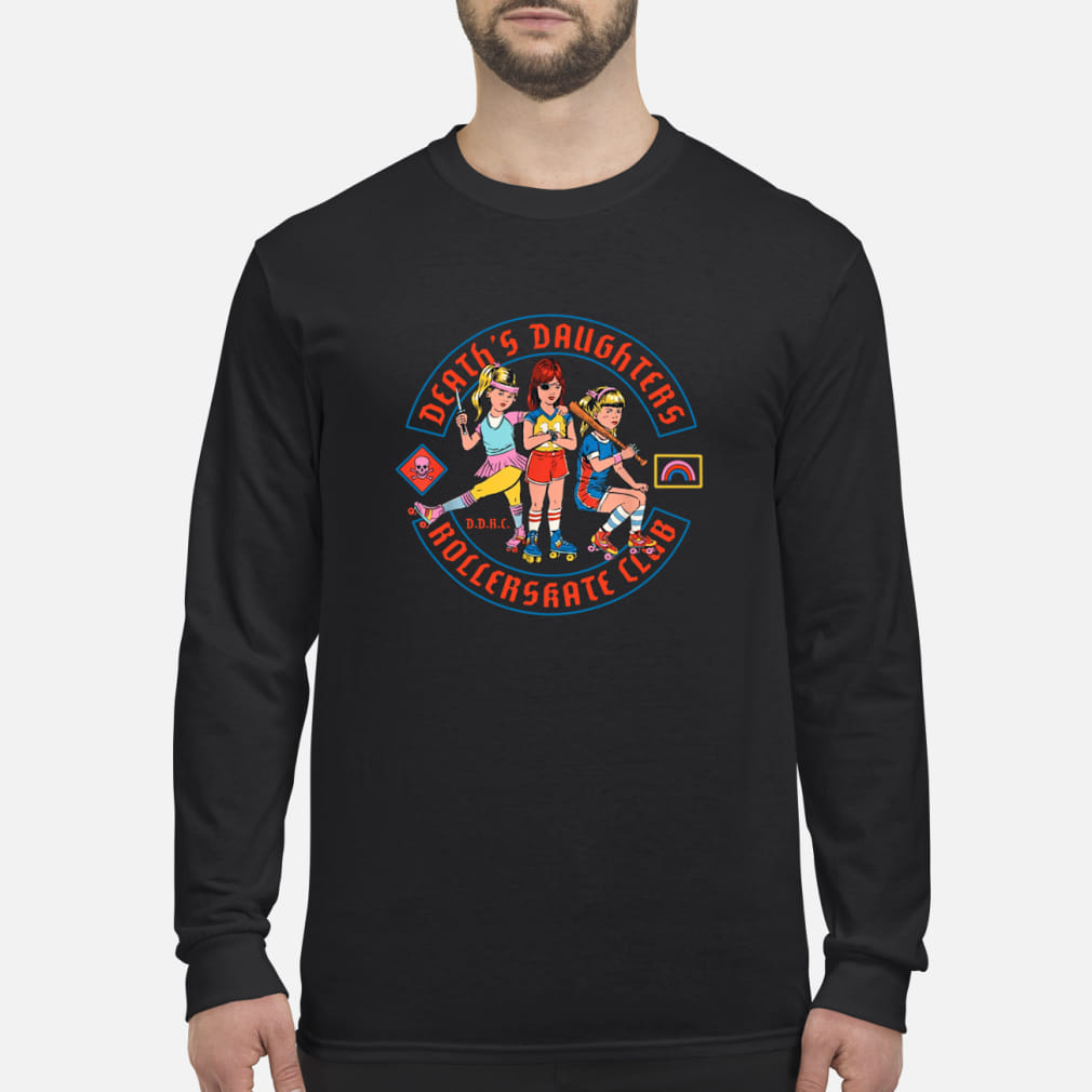 Death's daughters roller skate club shirt Long sleeved