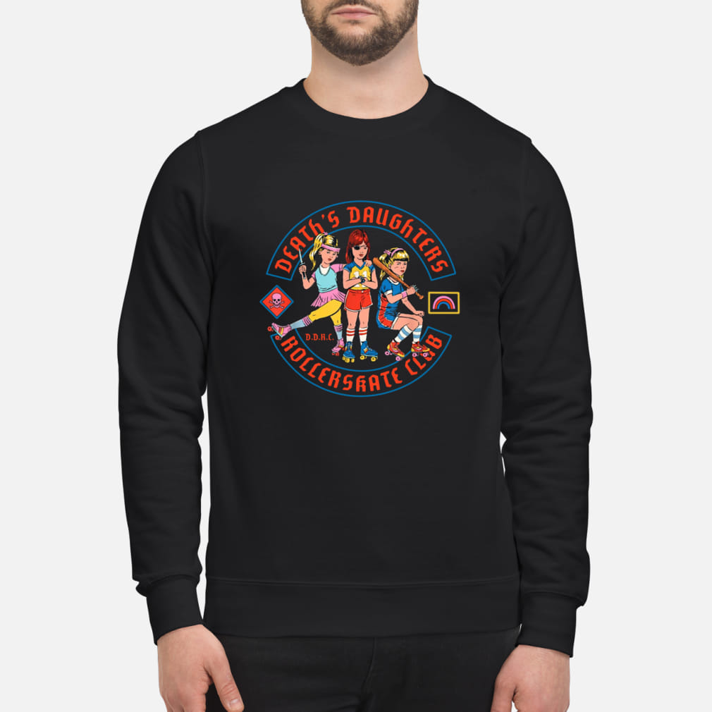 Death's daughters roller skate club shirt sweater