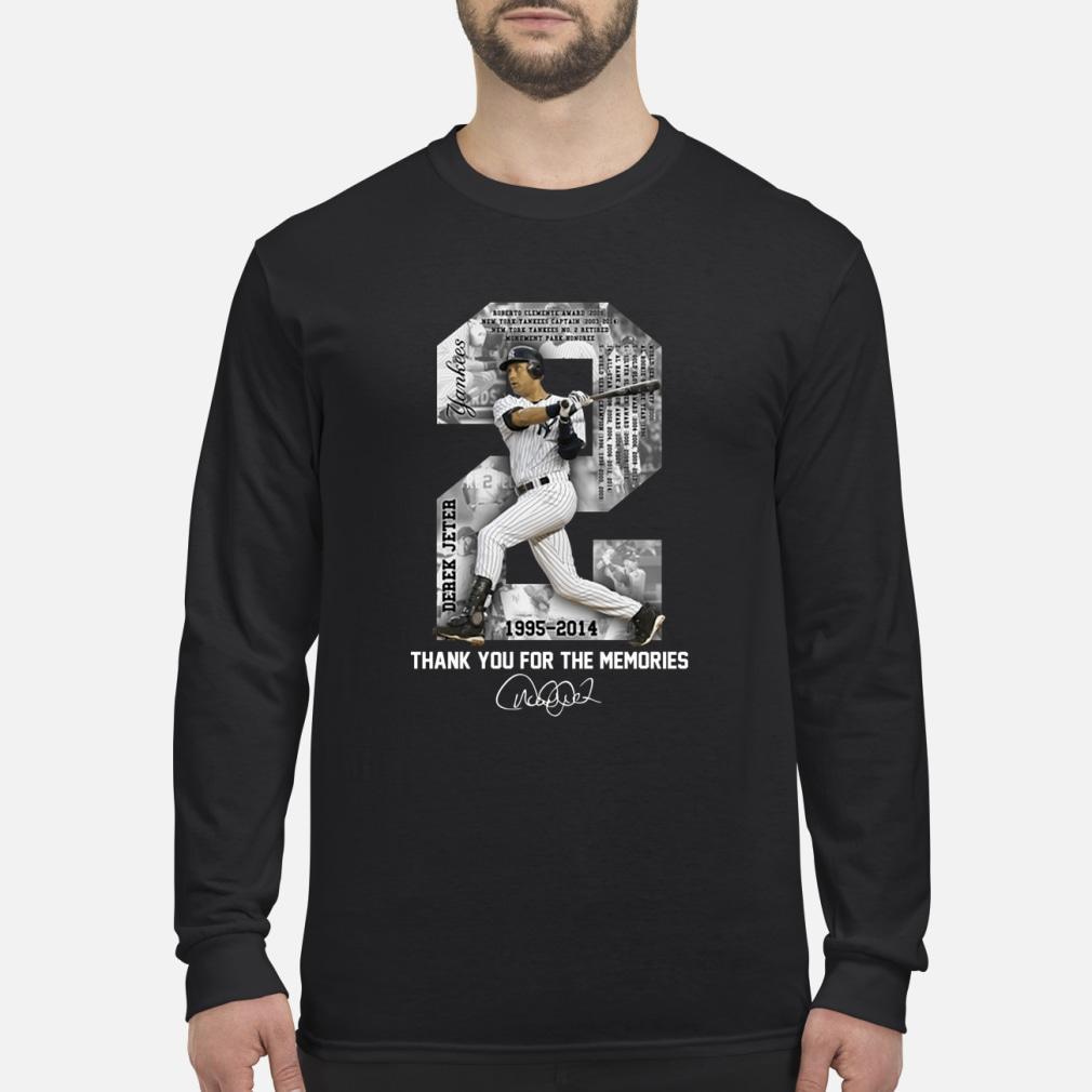 Derek Jeter Thank you for the memories shirt Long sleeved