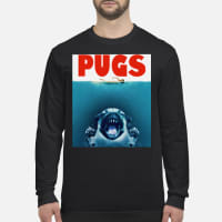 Dog pugs shark's jaw shirt Long sleeved