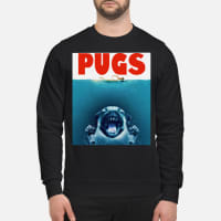 Dog pugs shark's jaw shirt sweater