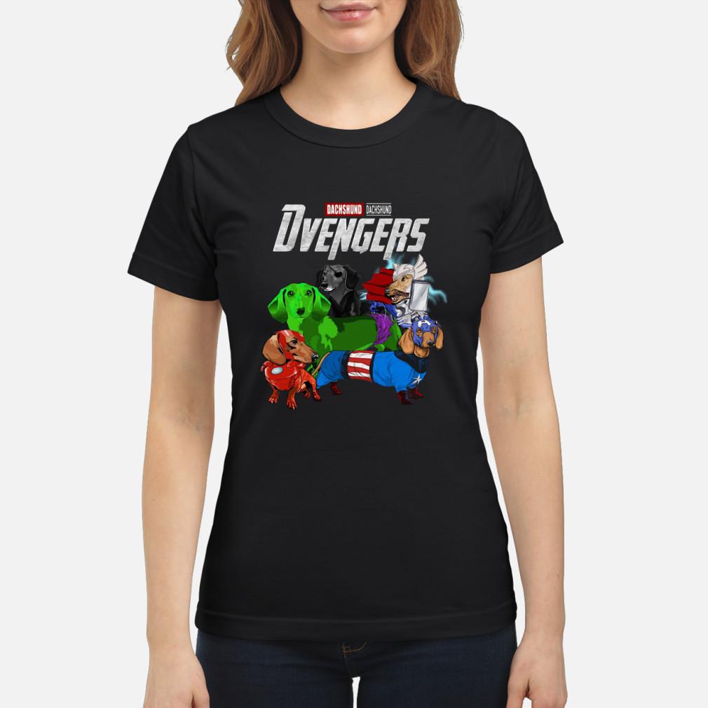 Dvengers Dachshund version shirt ladies tee