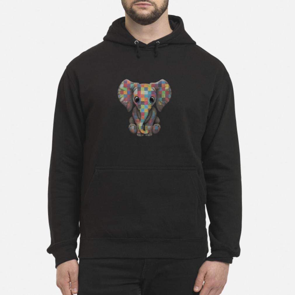 Elephant autism awareness ladies shirt hoodie