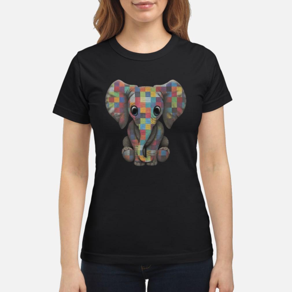 Elephant autism awareness ladies shirt ladies tee