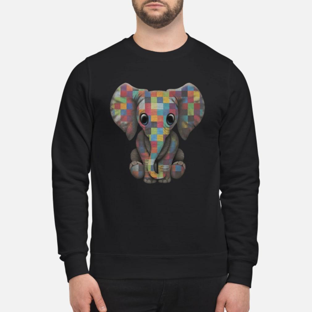 Elephant autism awareness ladies shirt sweater