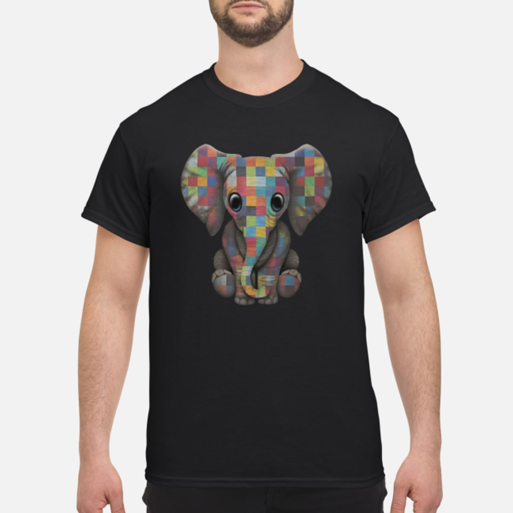Elephant autism awareness ladies shirt