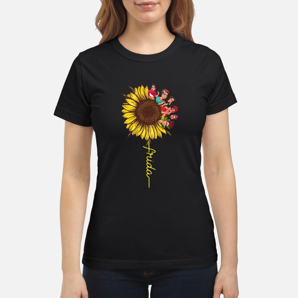 Frida Kahlo sunflower ladies shirt ladies tee