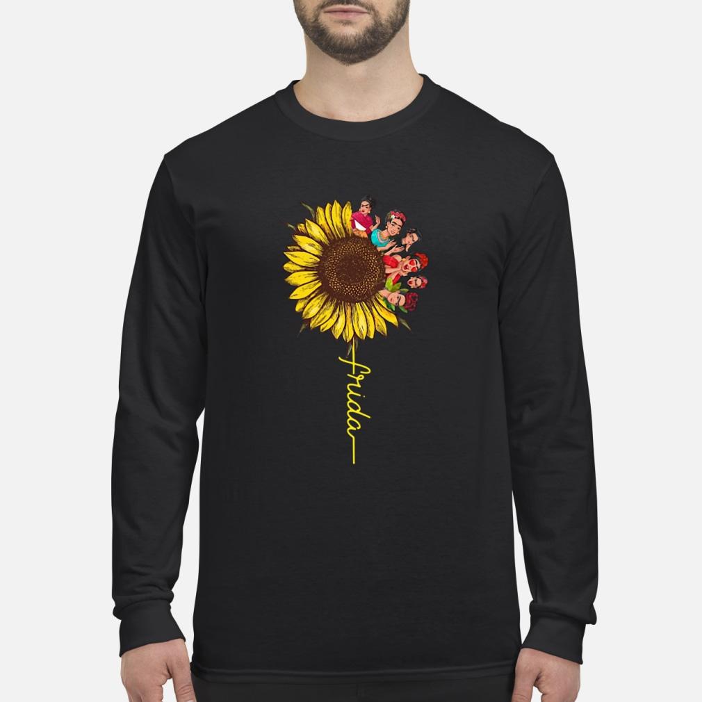 Frida Kahlo sunflower ladies shirt Long sleeved