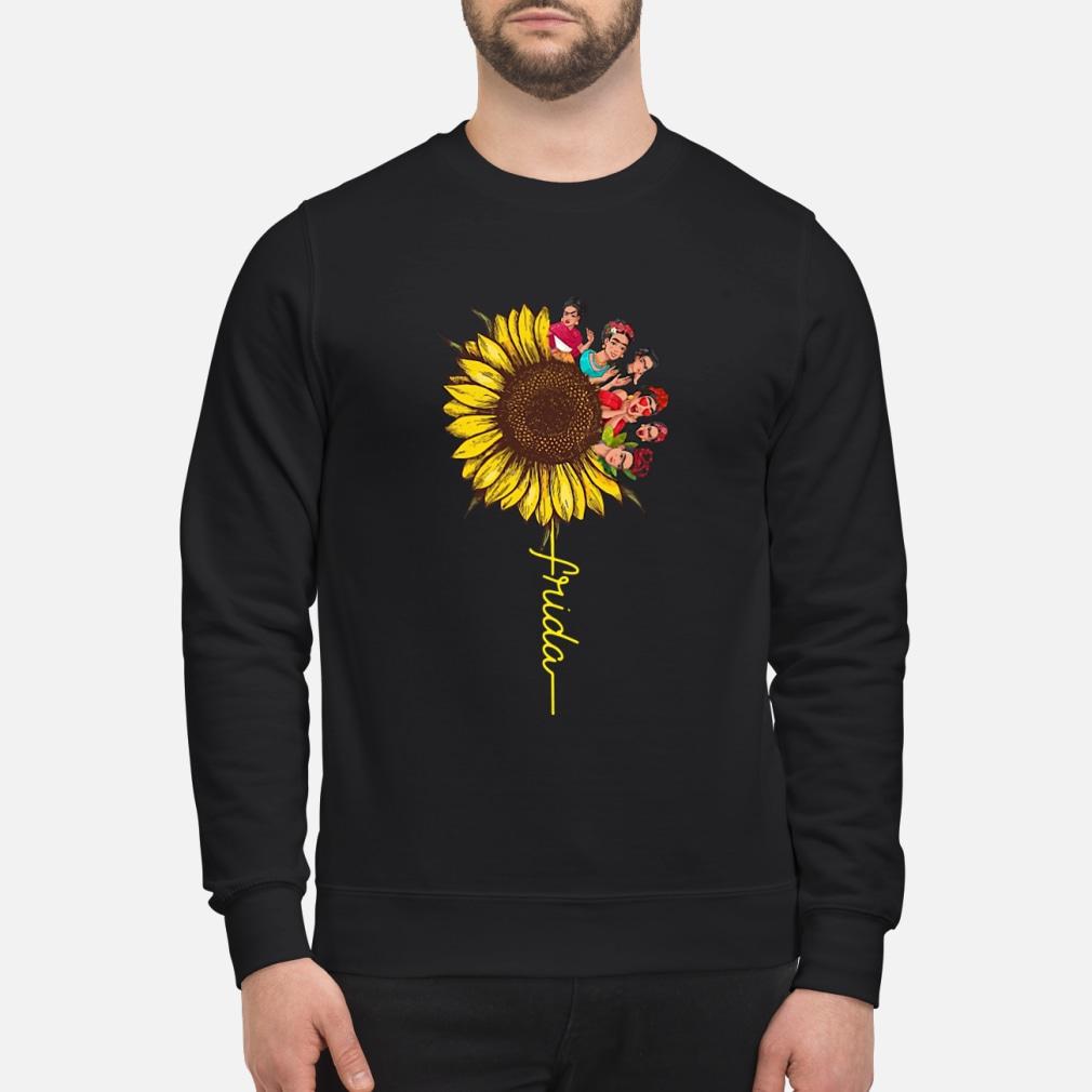 Frida Kahlo sunflower ladies shirt sweater