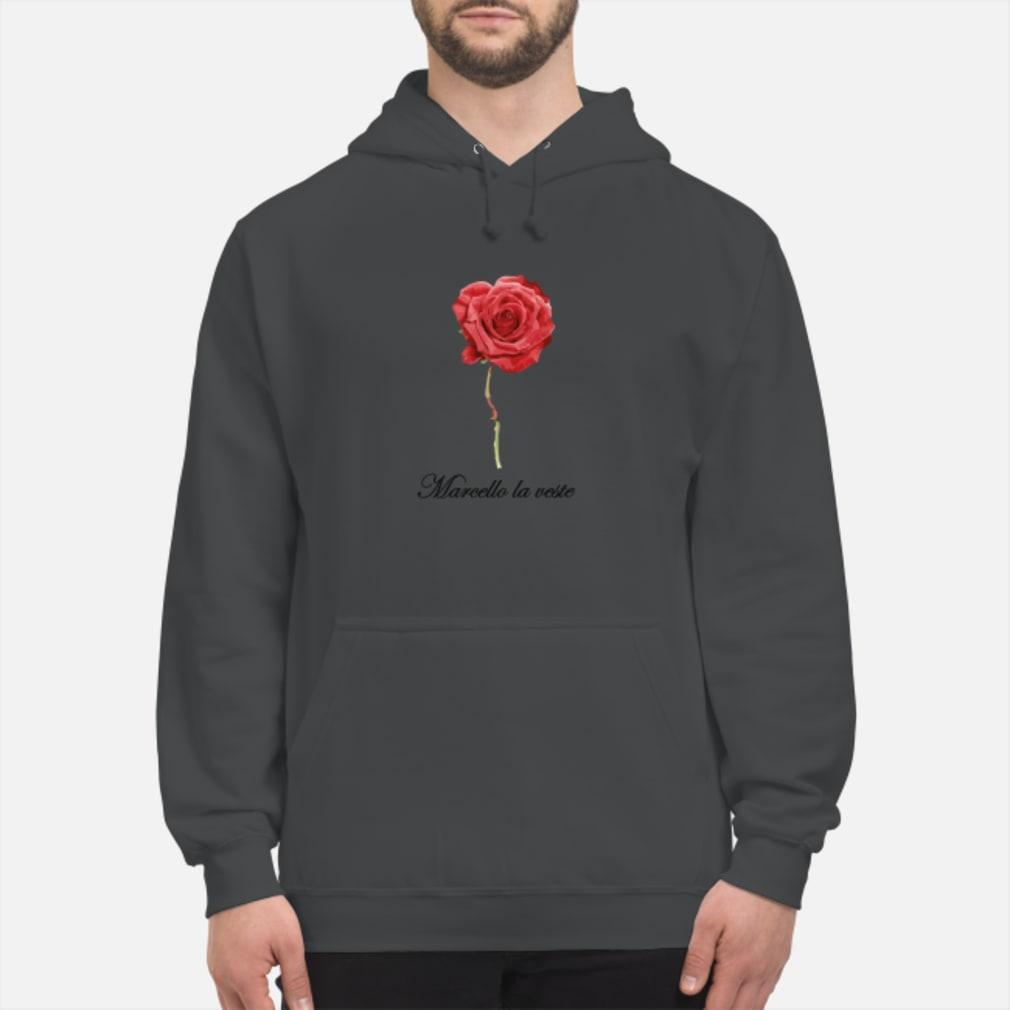 Große Rose mit Schrift Shirt hoodie