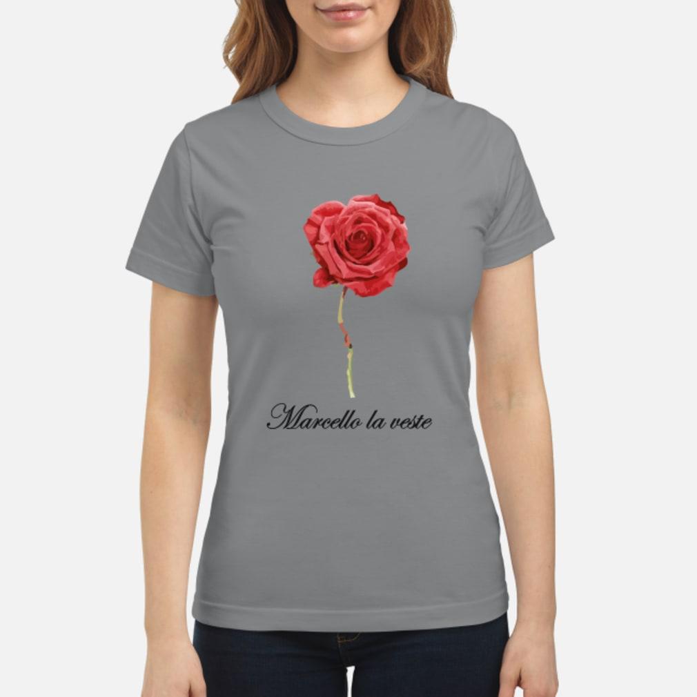Große Rose mit Schrift Shirt ladies tee