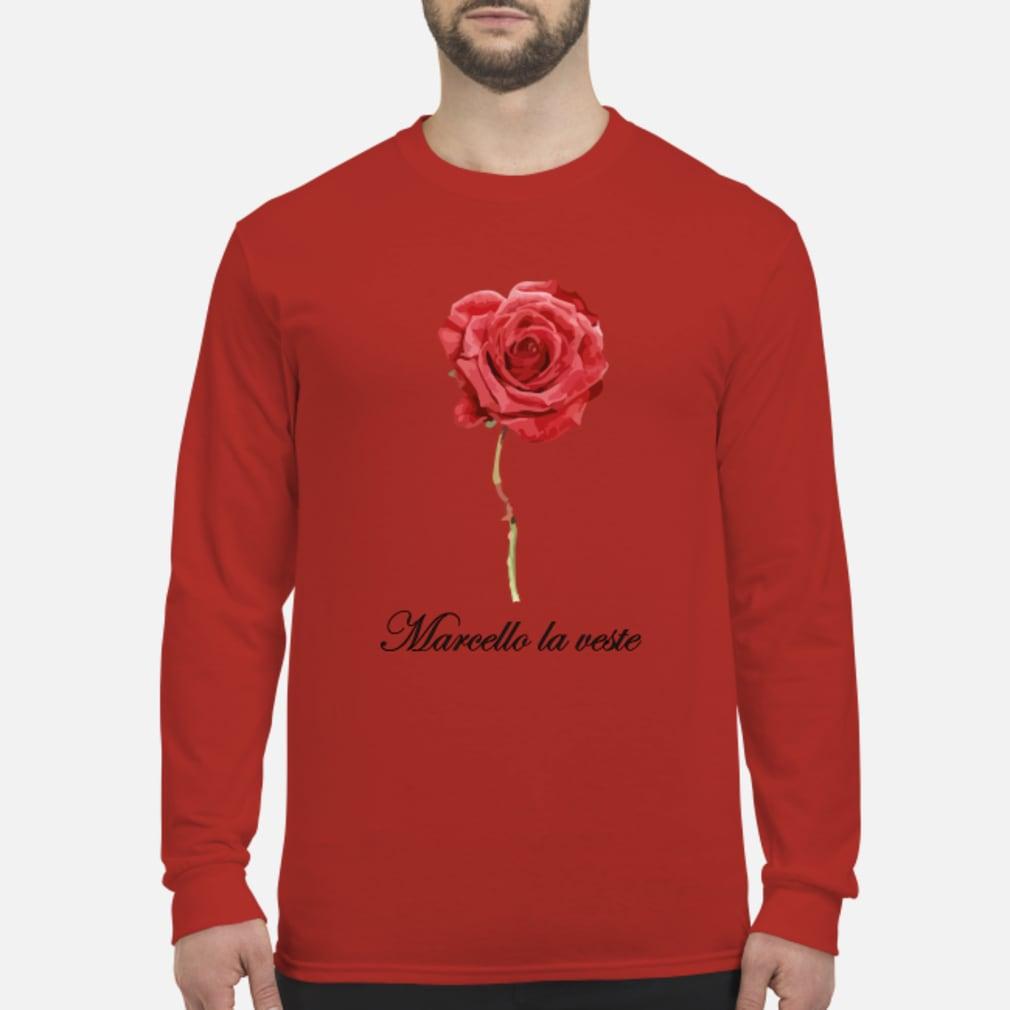 Große Rose mit Schrift Shirt Long sleeved