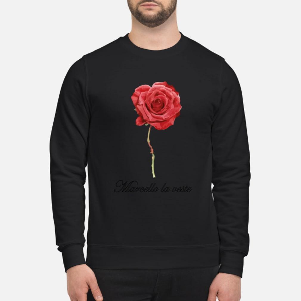 Große Rose mit Schrift Shirt sweater