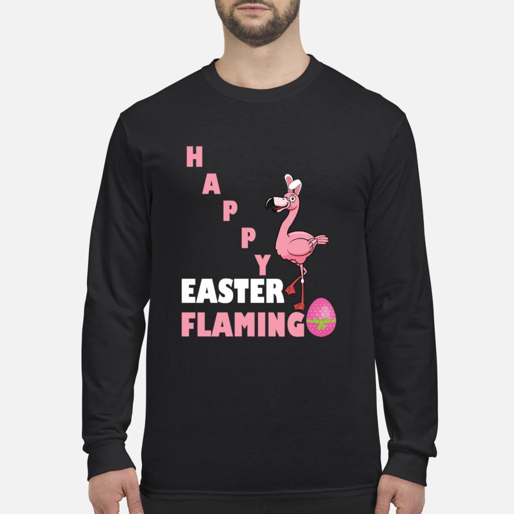 Happy Easter Flamingo egg shirt Long sleeved