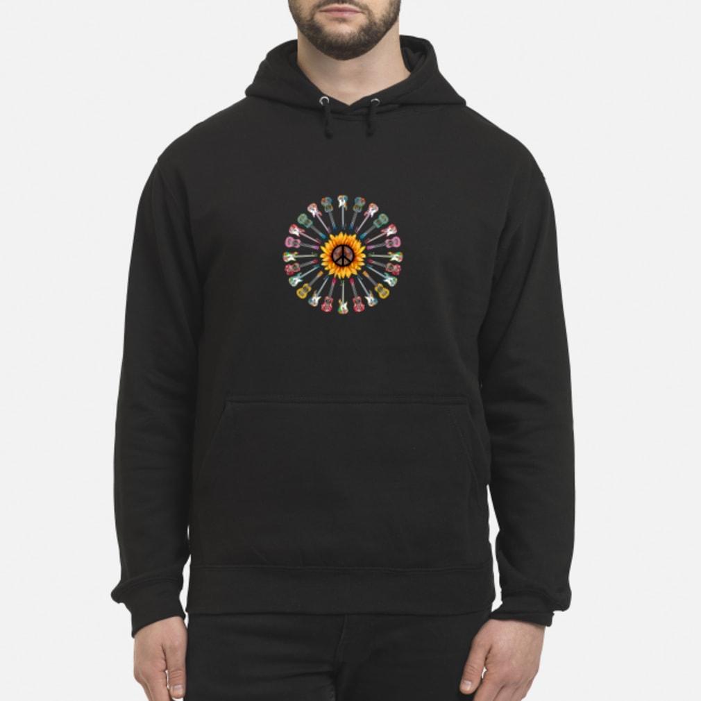 Hippie guitar sunflower shirt hoodie