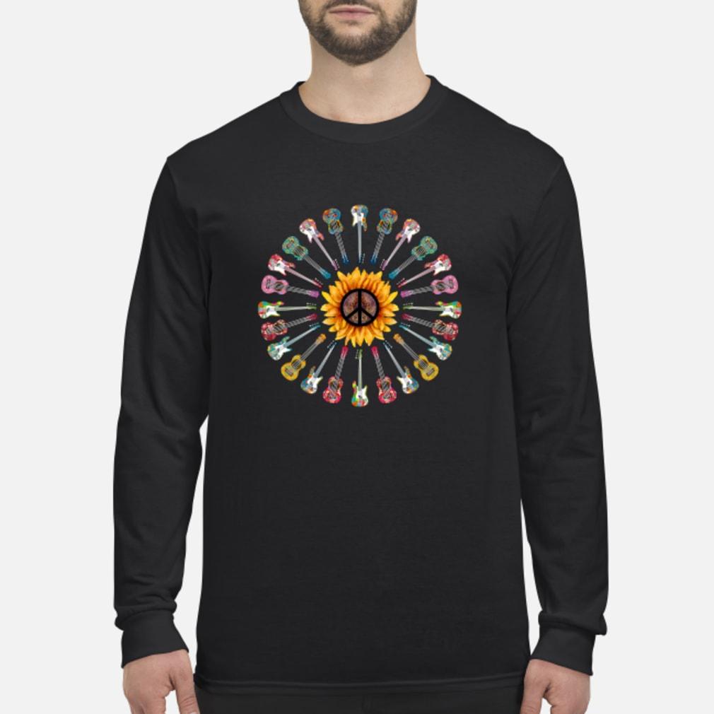 Hippie guitar sunflower shirt long sleeved