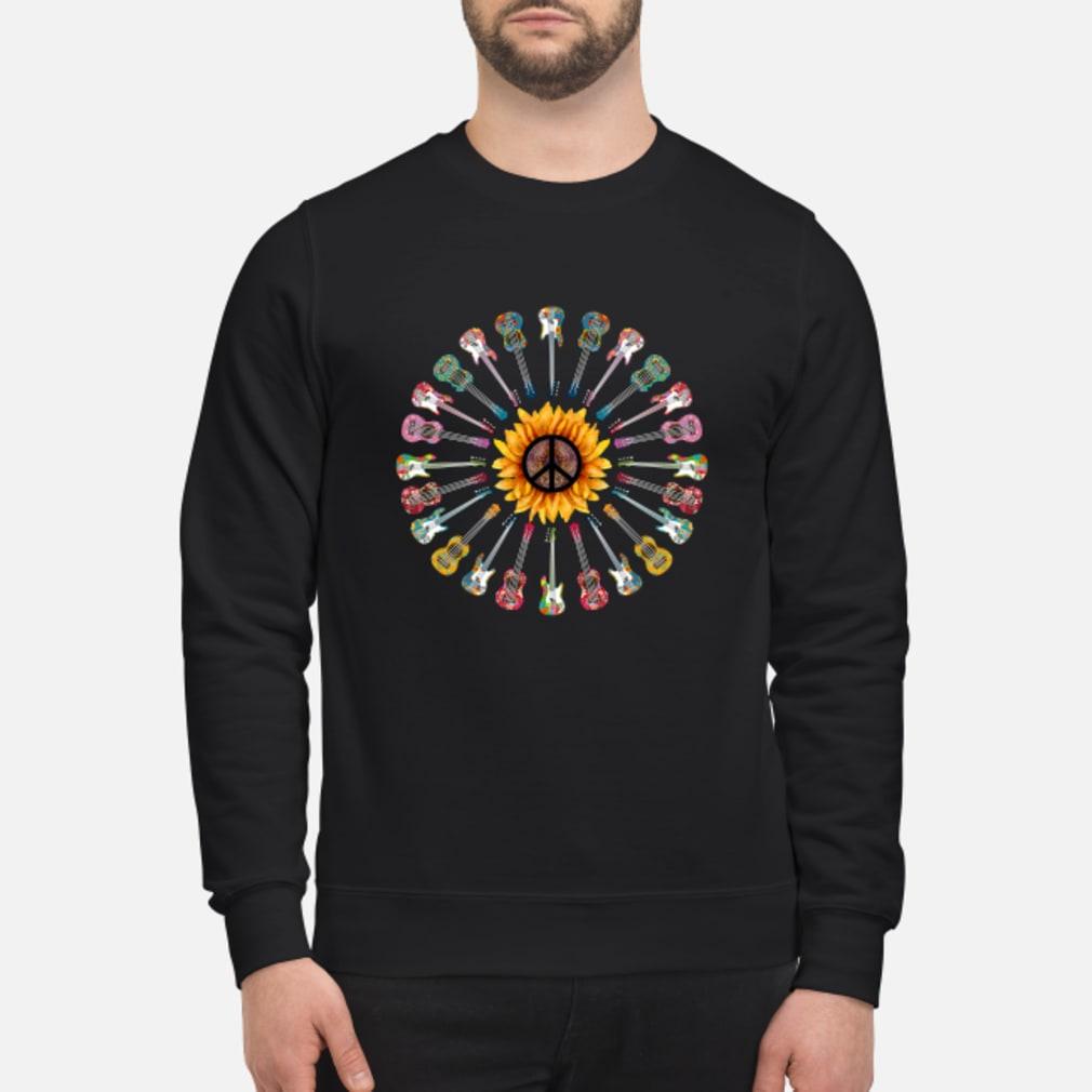 Hippie guitar sunflower shirt sweater