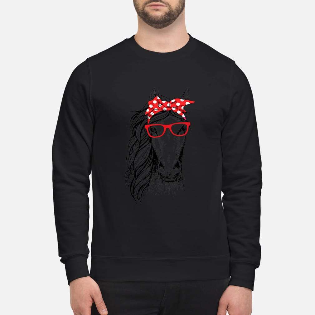 Horse pink bow shirt sweater