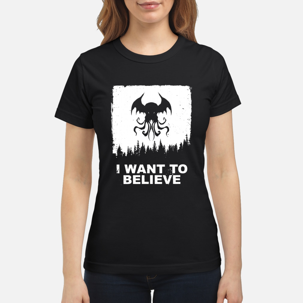 I want to believe shirt ladies tee