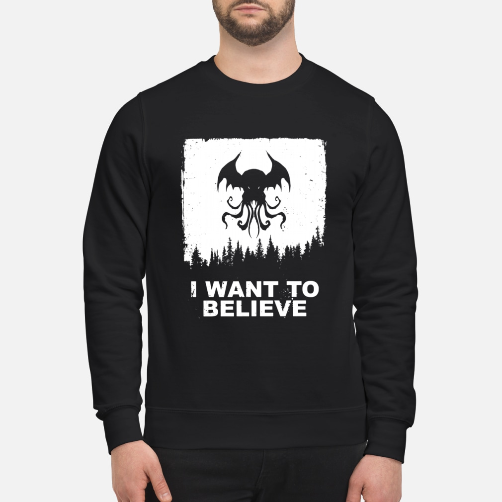 I want to believe shirt sweater