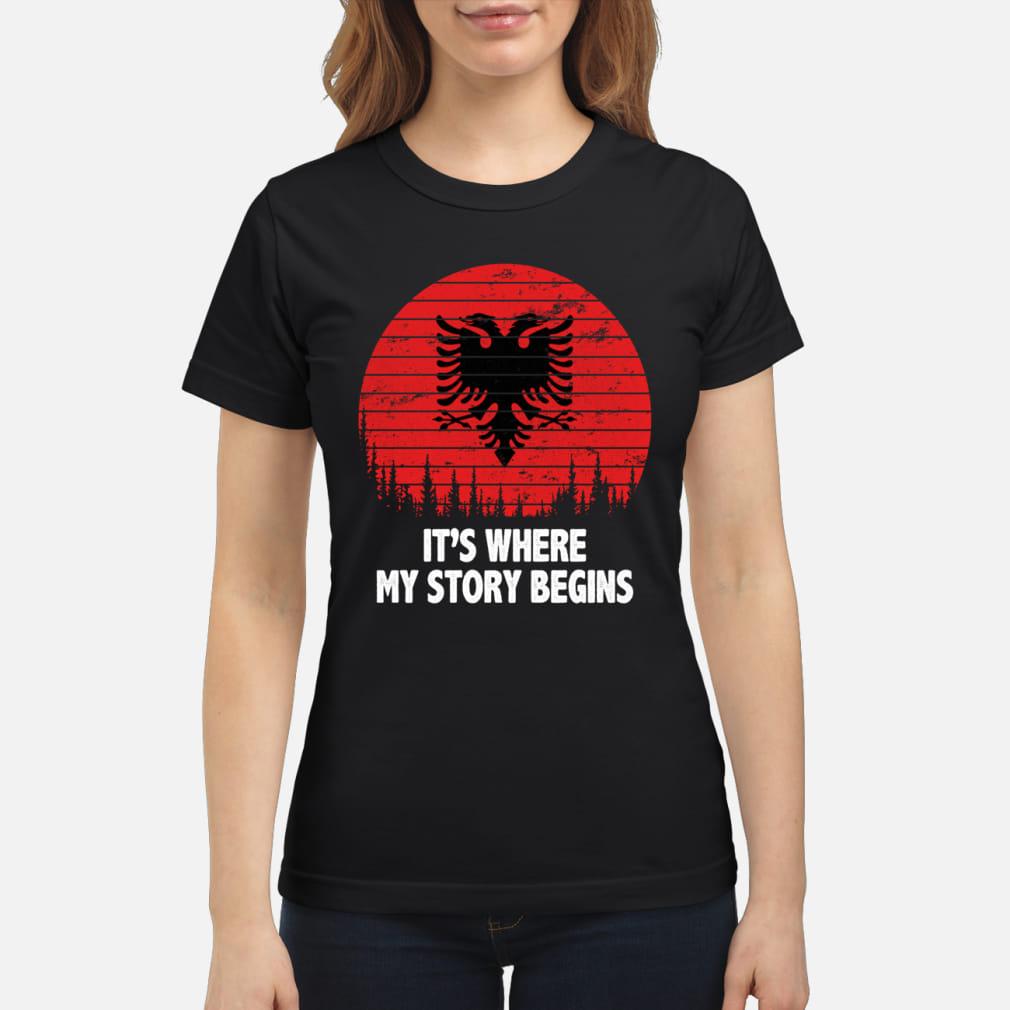 It's where My story begins shirt ladies tee