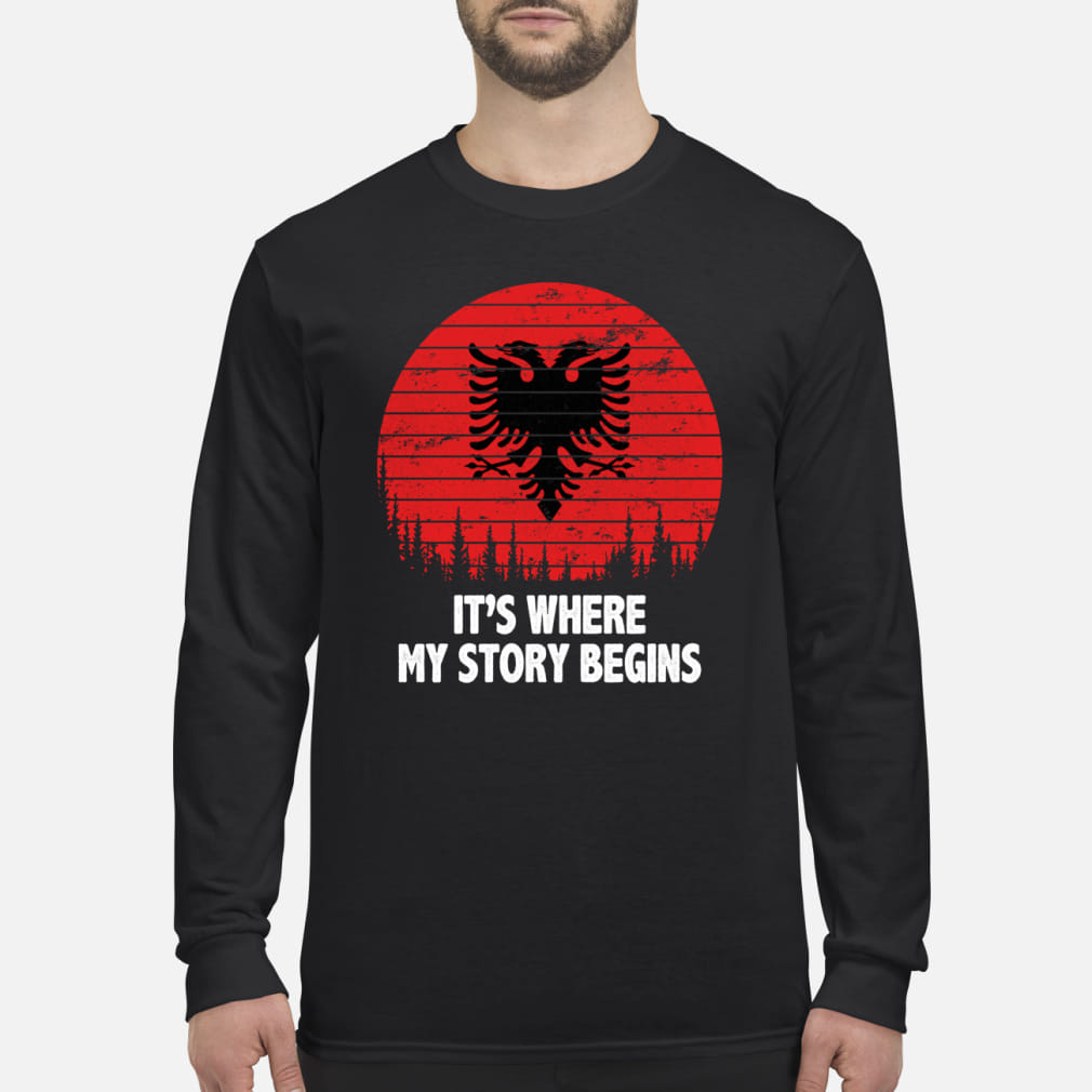 It's where My story begins shirt Long sleeved