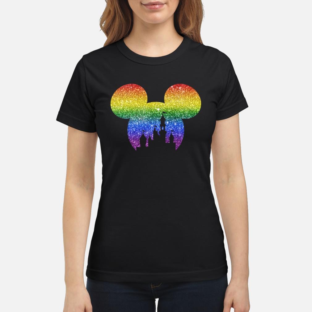 LGBT mickey disney castle shirt ladies tee
