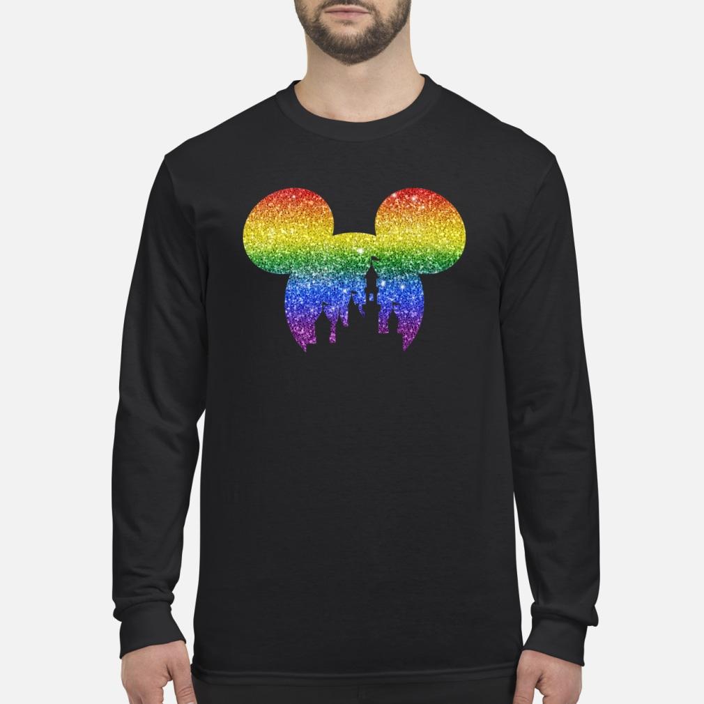 LGBT mickey disney castle shirt Long sleeved